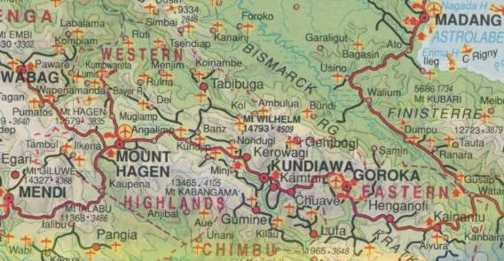 Description of the traverse mtwilhelm is near the centre of the map keglsugl is not on the map but is near gembogl sciox Image collections